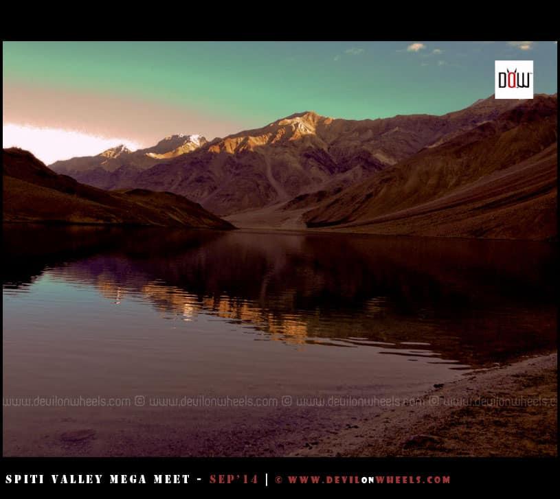 Ripples in Chandratal Lake