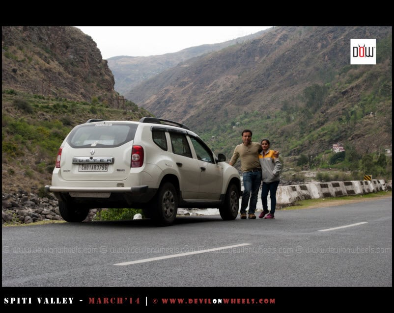 Sany and Shikha with their Ride of this frozen journey