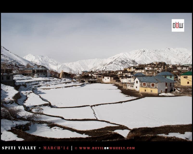 The snow filled Nako Village