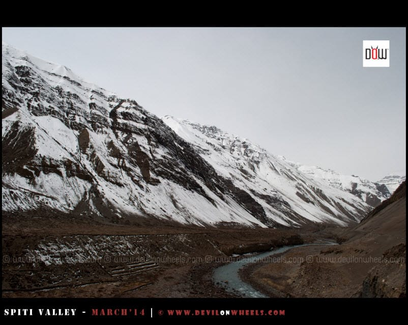 Spiti River, taking a turn