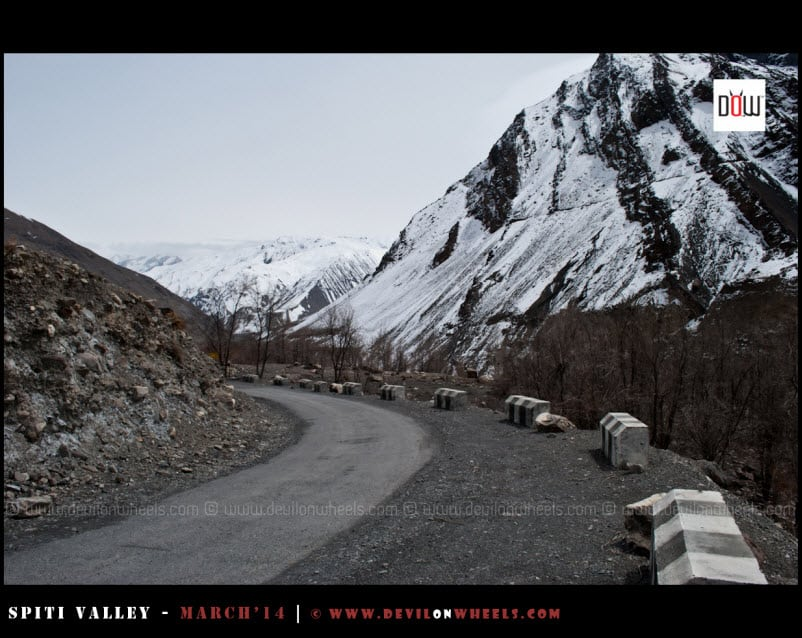 The Rare Smooth Road to Tabo from Nako... A Dis-illusion for us