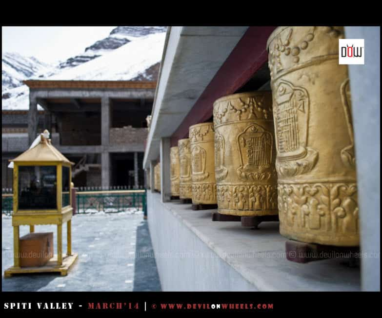 Prayer Wheels at Tabo Monastery