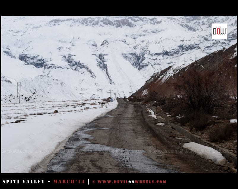 The Road to Kaza from Tabo