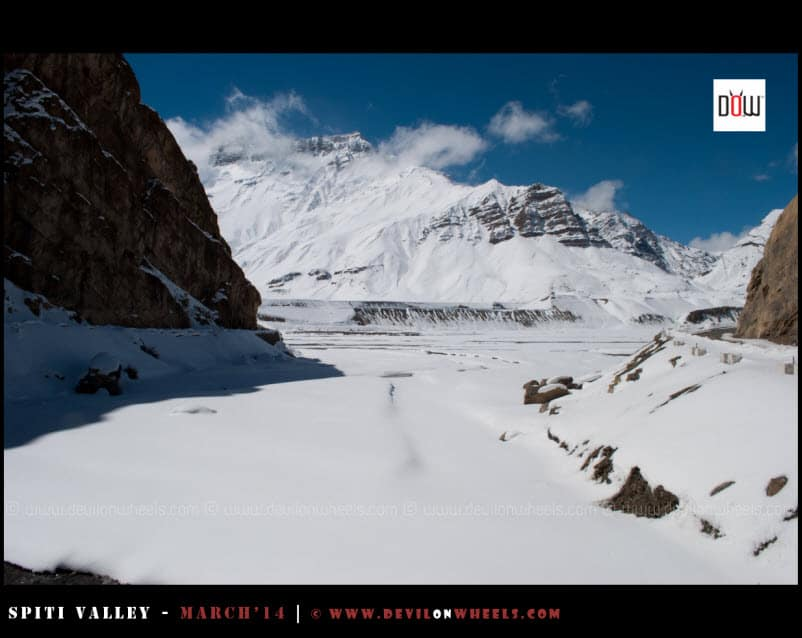 The snow white valley from Kaza to Kibber