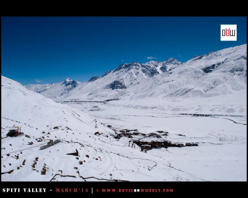 Breathtaking Snow filled views from Key Monastery