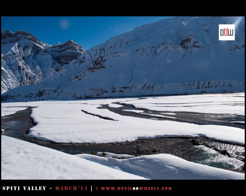Those Frozen Moments from Spiti River