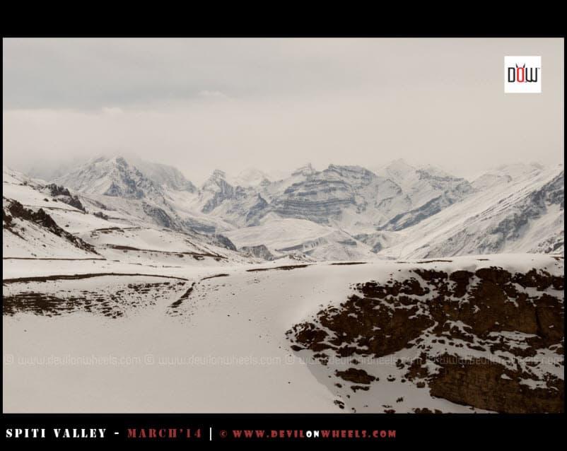 Manirang Range, buried under snow