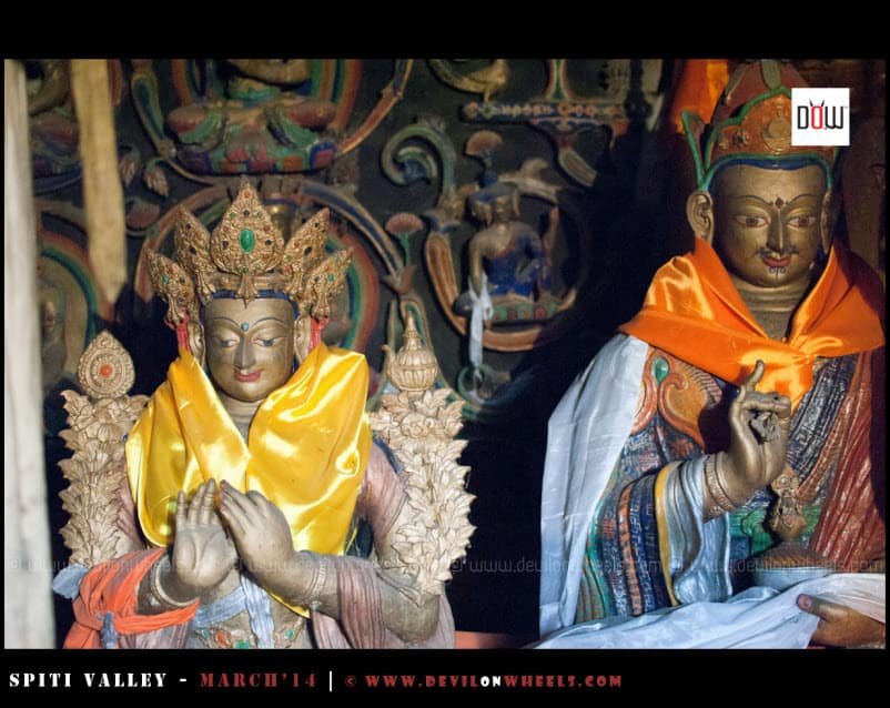 Dieties at Lhalung Monastery