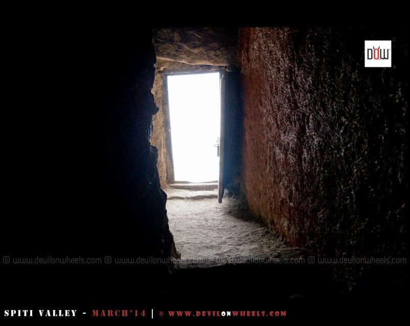 Inside Dhangkar Monastery