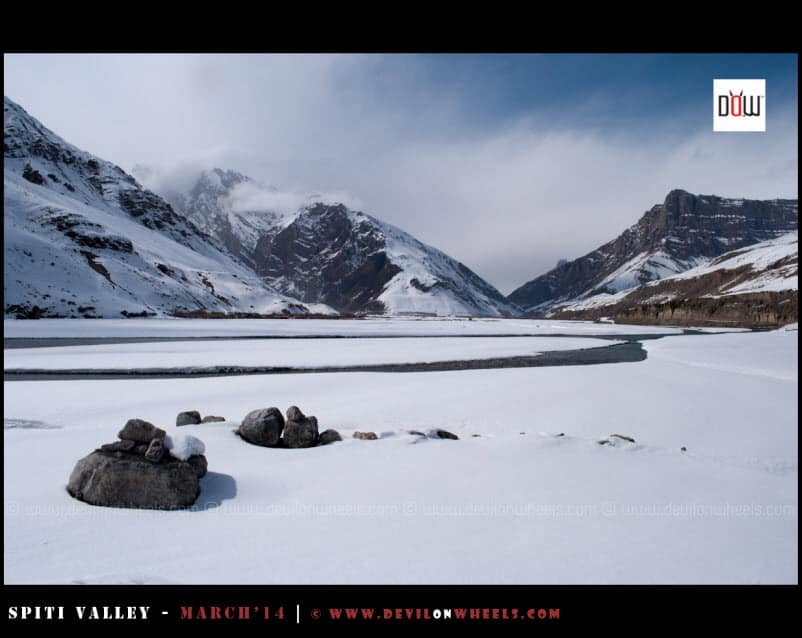 Breathtaking views of Spiti in Winters