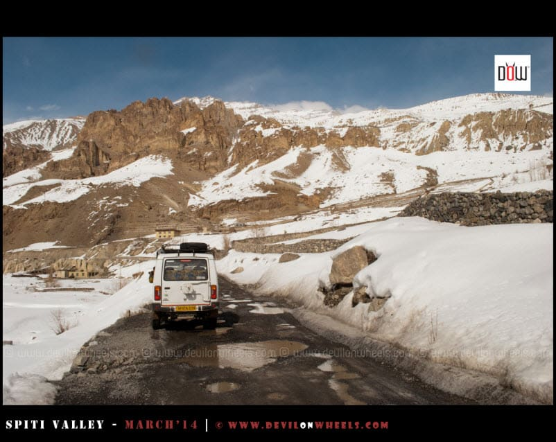 Our Ride on the way back to Kaza from Dhangkar