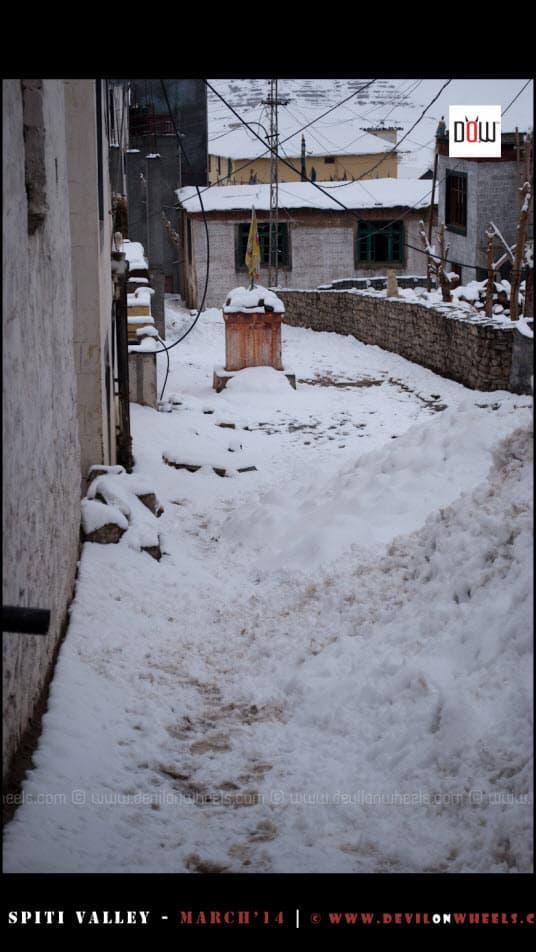 Snowfilled Morning at Kaza