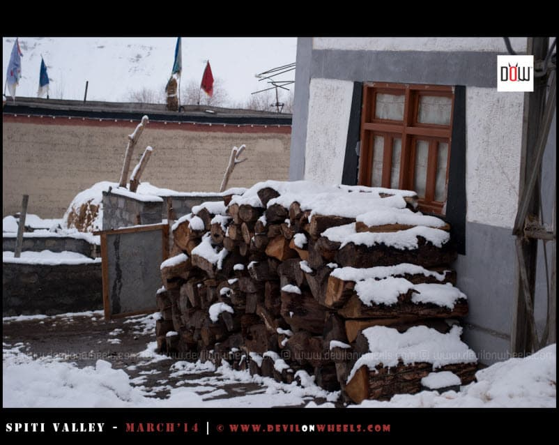 Snow filled Morning at Kaza