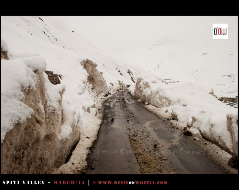 Kaza Roads after fresh snowfall