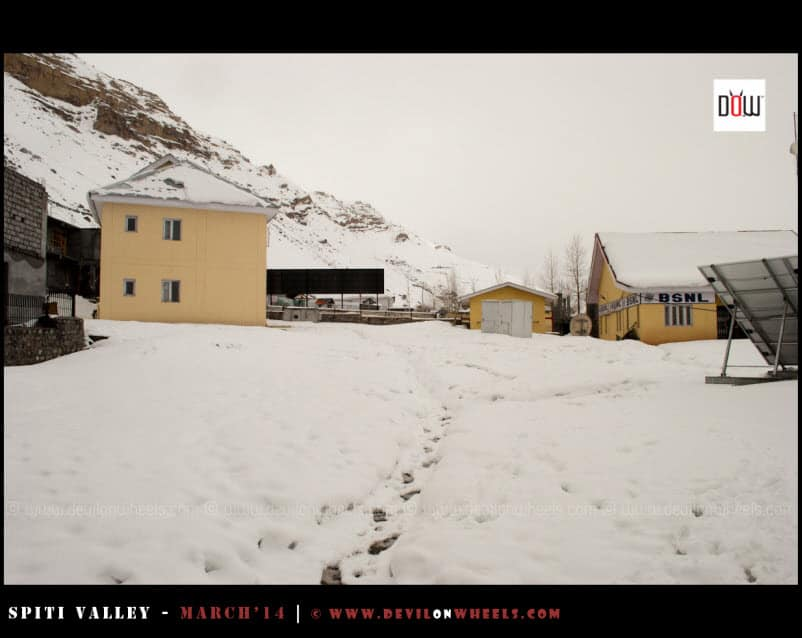 Fresh snow in Kaza