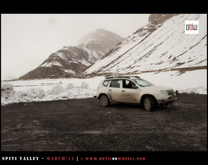 Duster Posing at Helipad outside Kaza