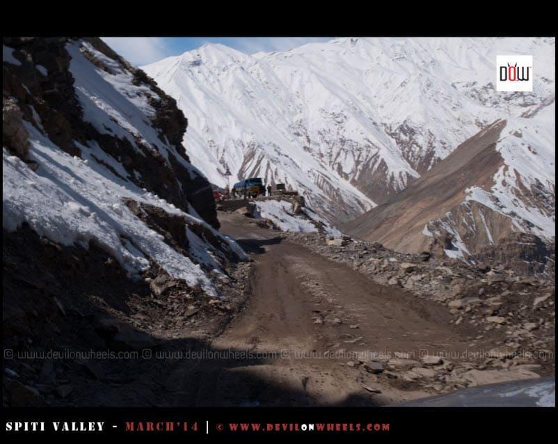 As we crossed the landslide point