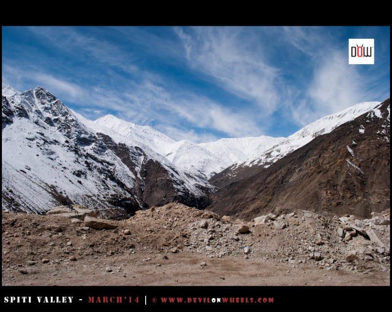 Snow Clad Mountains ahead of Nako in Kinnaur