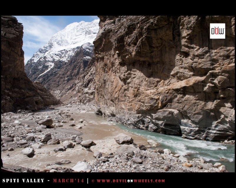 Khab - The confluence of Spiti River and Sutluj River