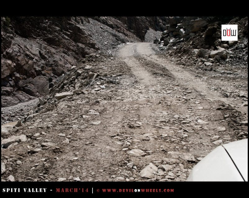 The bad roads of Kinnaur