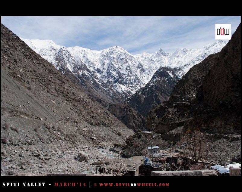 That looks like Kinner Kailash range as we near Jangi
