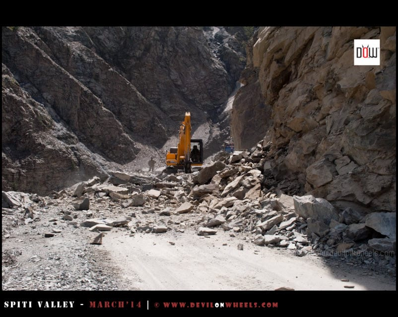 Oops the landslide again, welcome to Kinnaur
