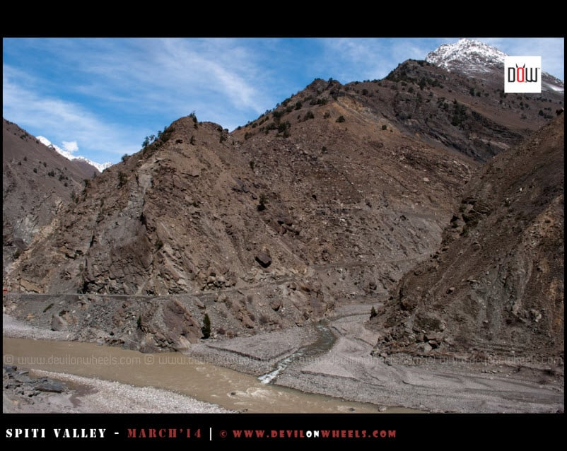 Glacial Streams meeting into mighty Sutluj river