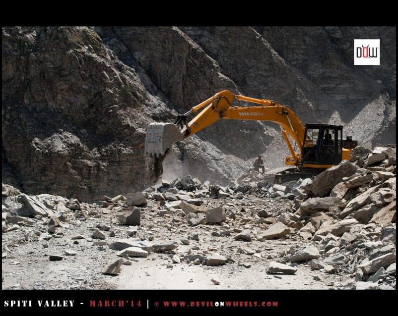 Landslide is clearing up