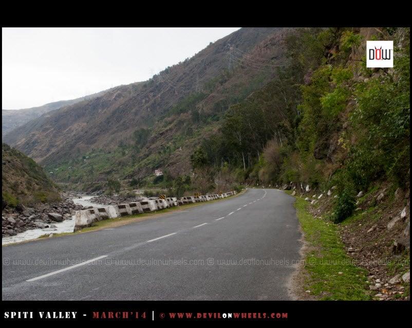 Roads near Rampur on NH-22