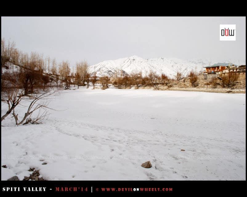 The Frozen Nako Lake