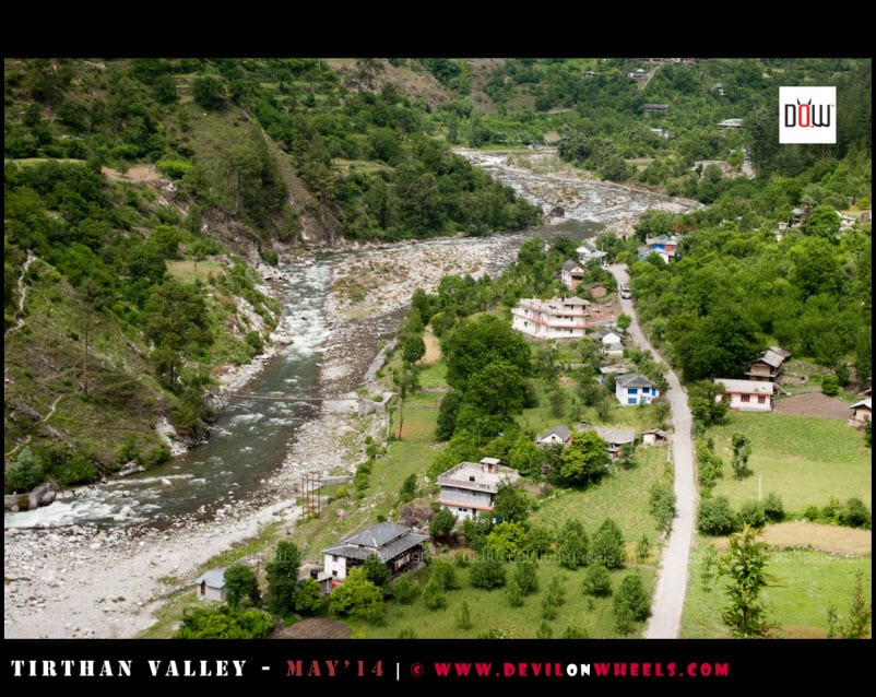 Tirthan Valley, an aerial view