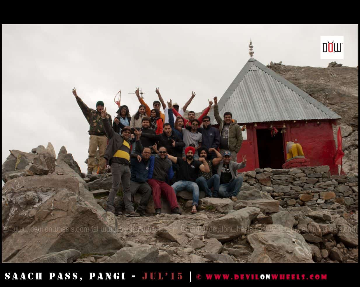 The Devils Gang at Sach Pass, Three cheers for the Spirits shown