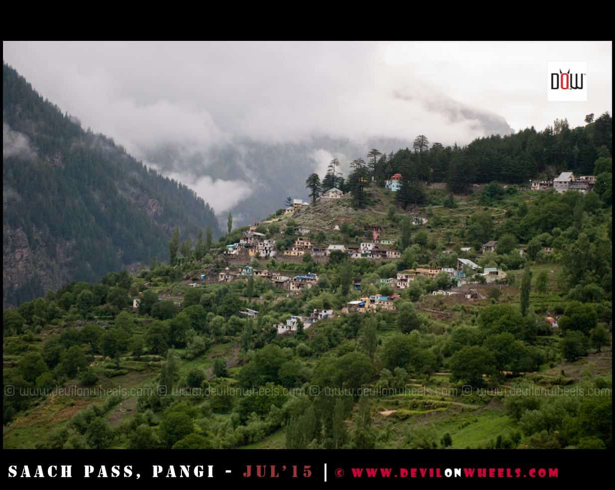 Beautifuly setup Killar village in Pangi Valley