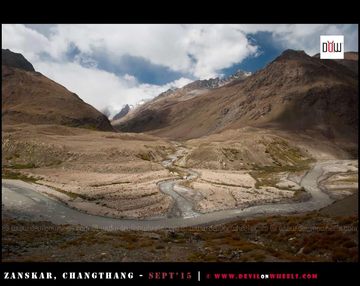 And it meets into Zanskar river