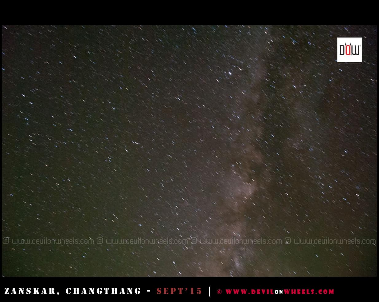 Milkyway as seen from Hanle