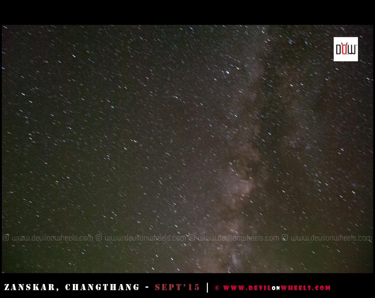 Milkyway as seen from Hanle