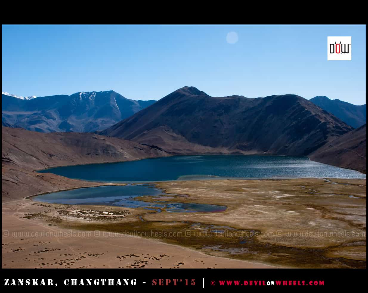 That heart shaped beautiful Yaye Tso lake