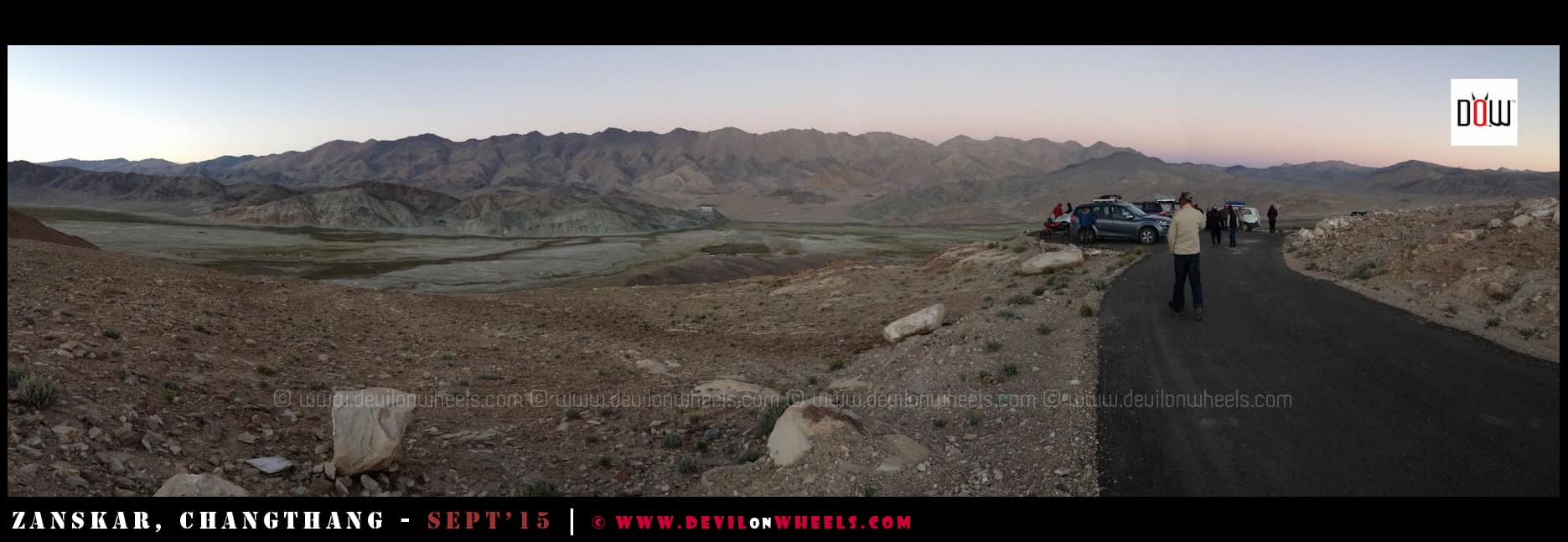 Thats a panoramic view of Hanle