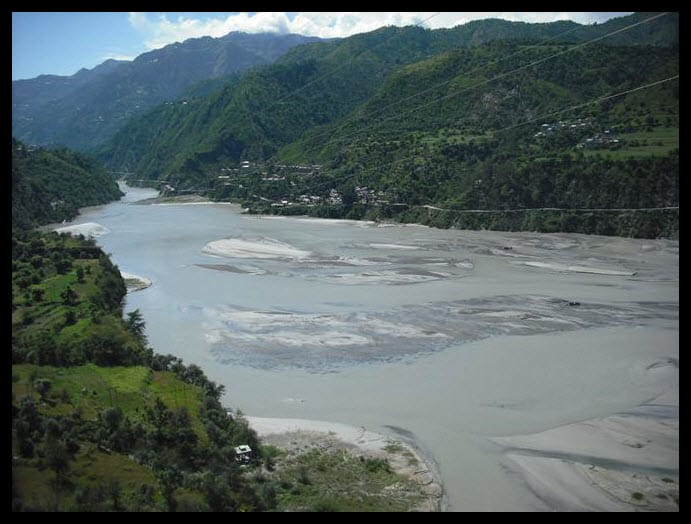 River Raavi in Chamba Valley