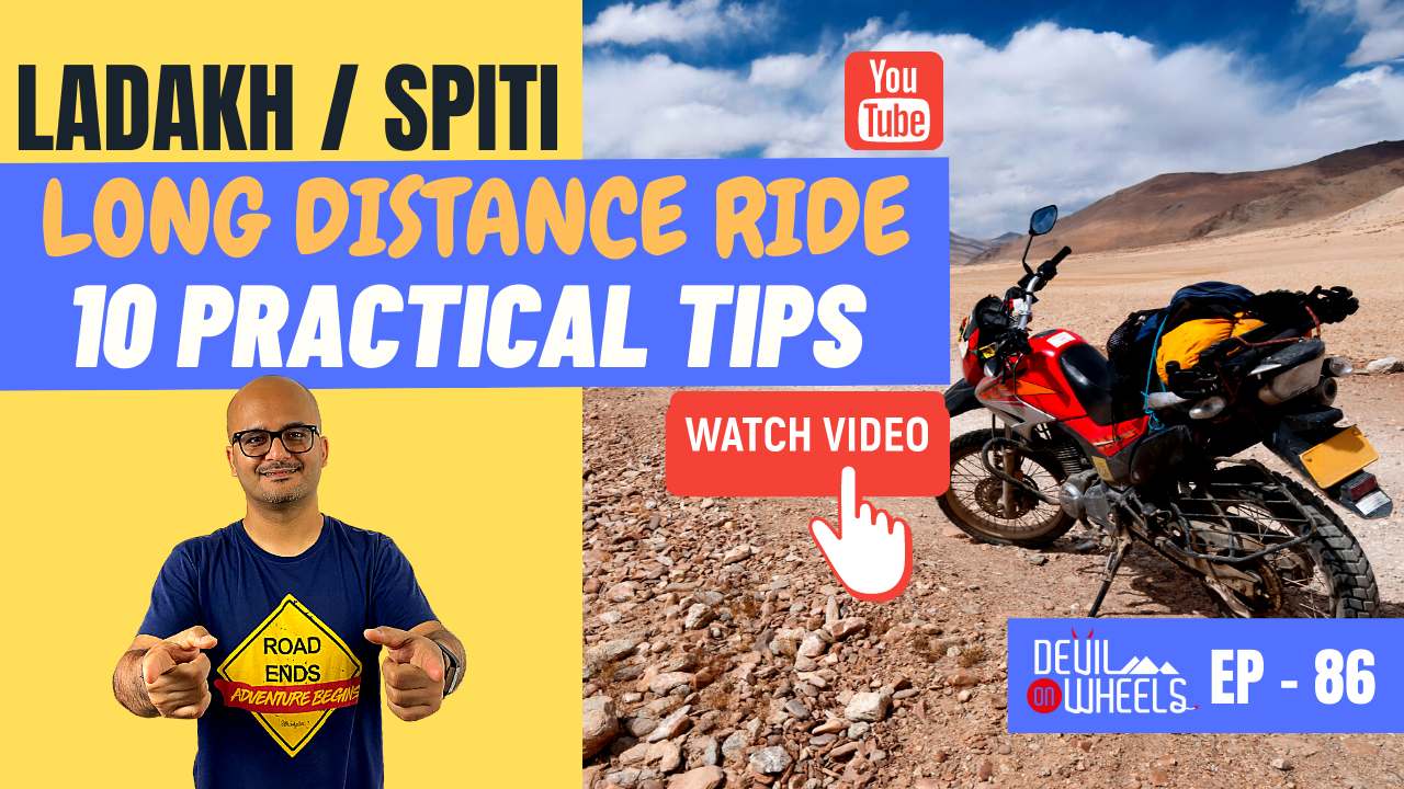What are tips for long-distance bike ride in Ladakh or Spiti? [10 Practical Tips]