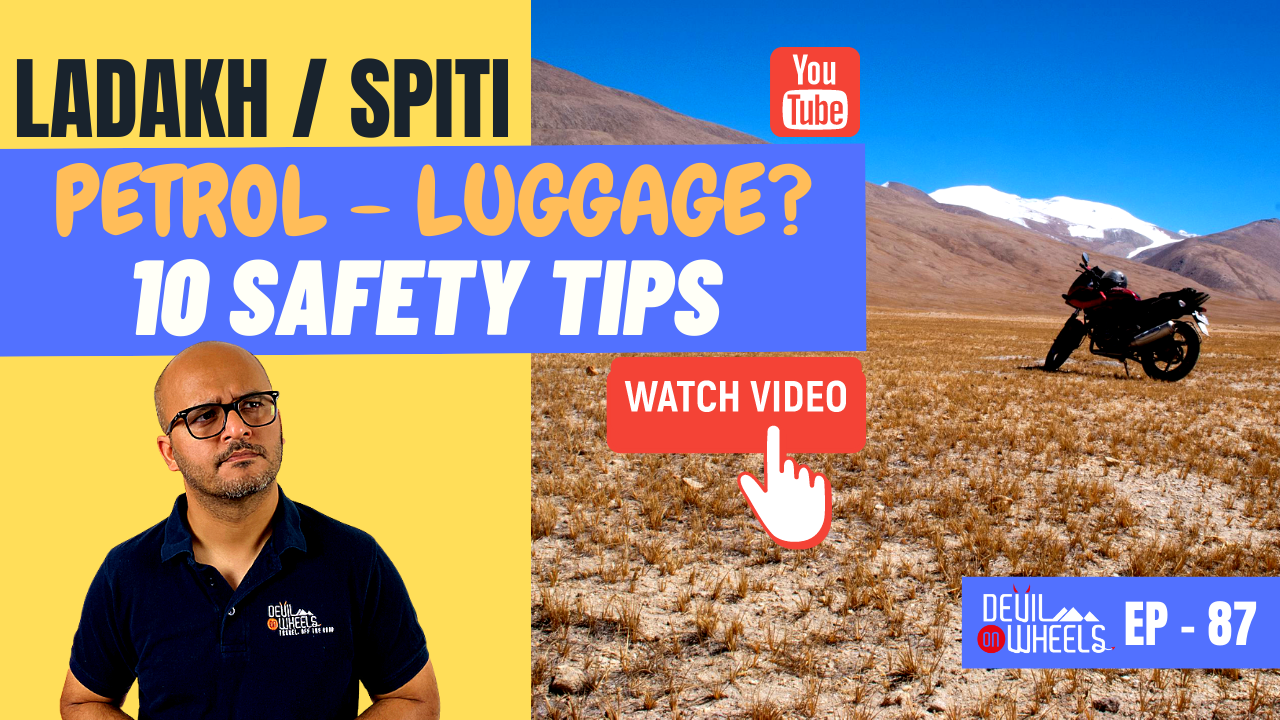 How to safely carry luggage or extra fuel on Spiti or Ladakh Bike Ride? [10 Safety Tips]