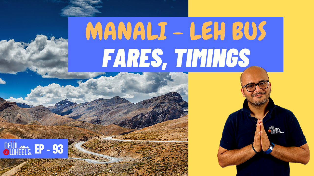Is there any bus service from Manali to Leh or Delhi to Leh?
