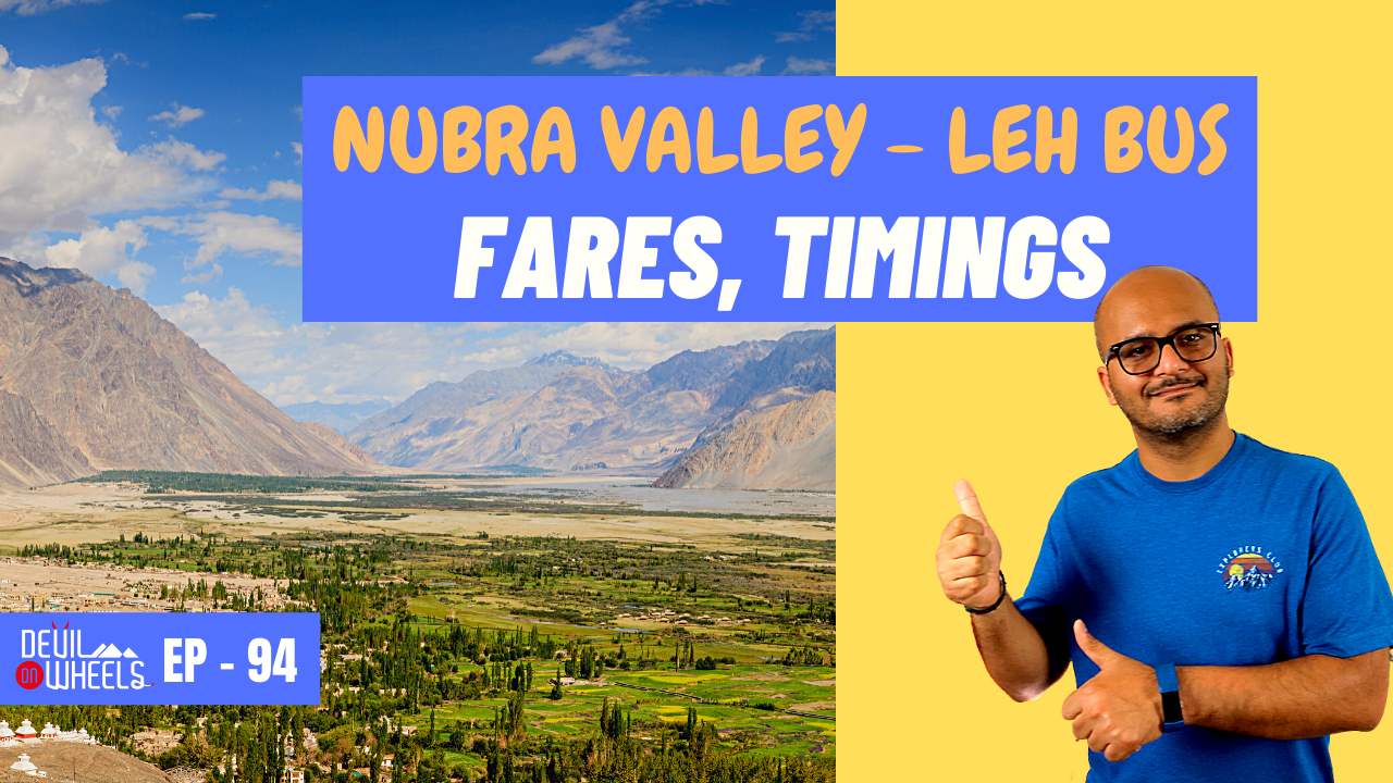 Is there any bus service from Leh to Nubra Valley?