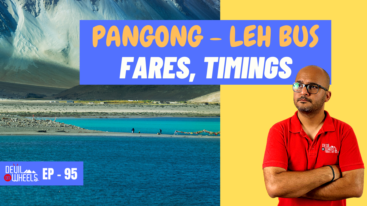 Is there any bus service from Leh to Pangong Lake?